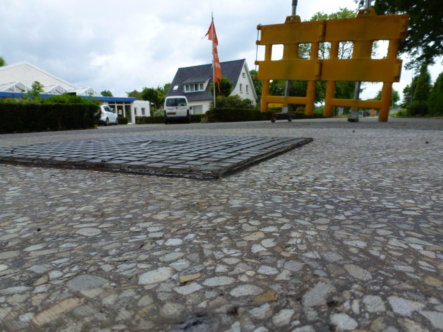 asfalt verwijderd