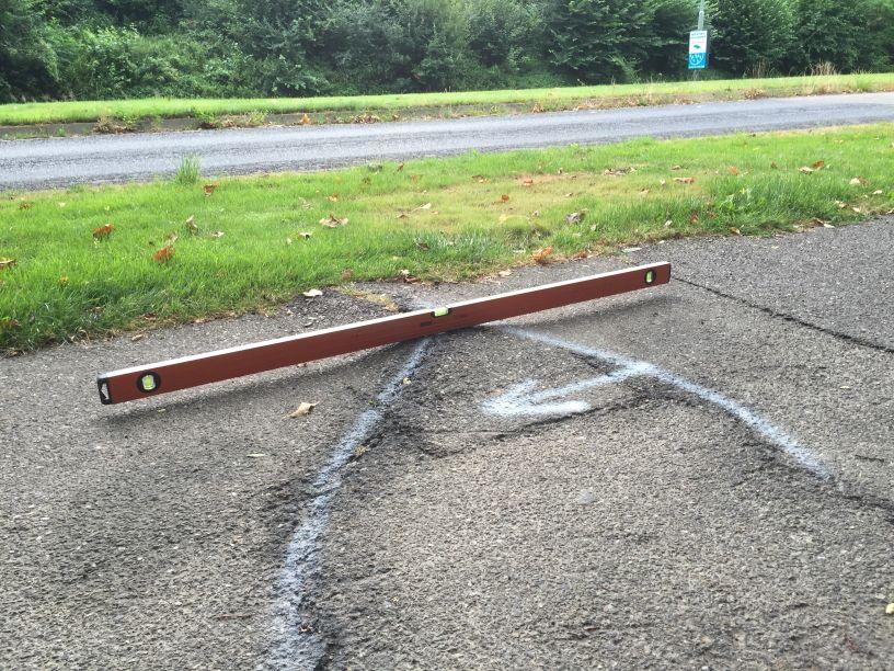 Wortelopdruk asfalt