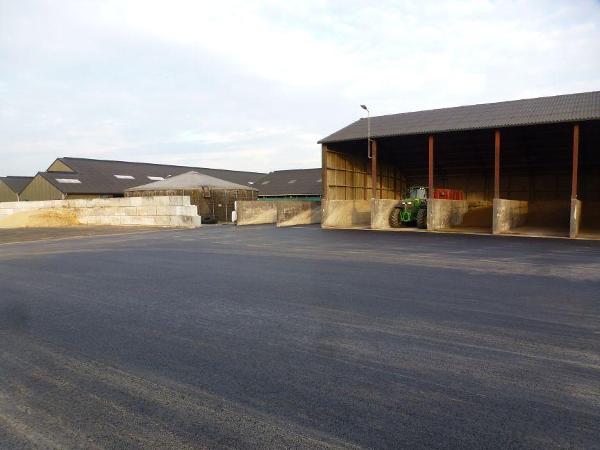 1000 m2 erfverharding/maissilo Asten-Heusden.