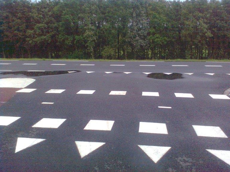 asfalt afschot